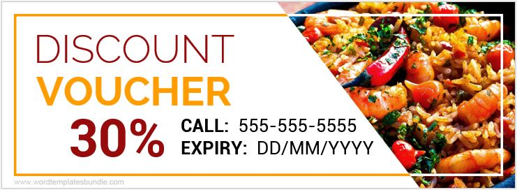 Famous Food Voucher Template Festooning - Resume Ideas - bayaarinfo - Lunch Voucher Template