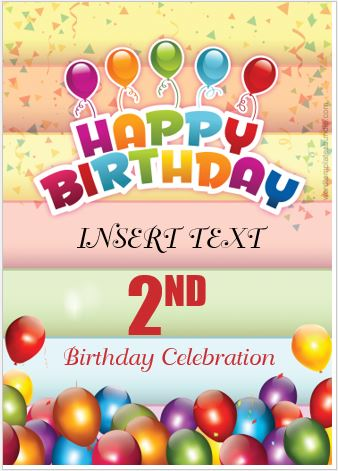 Birthday Banner Templates for MS Word Formal Word Templates