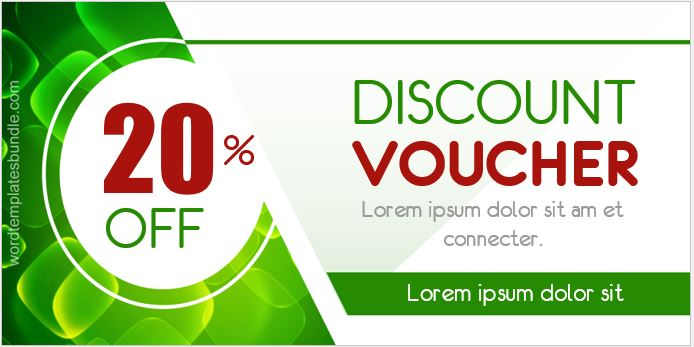 Discount Voucher Templates for MS Word Formal Word Templates