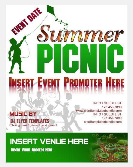 summer picnic flyer template - Alannoscrapleftbehind