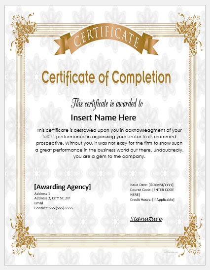 Certificate of Appreciation Wording  Templates Formal Word Templates