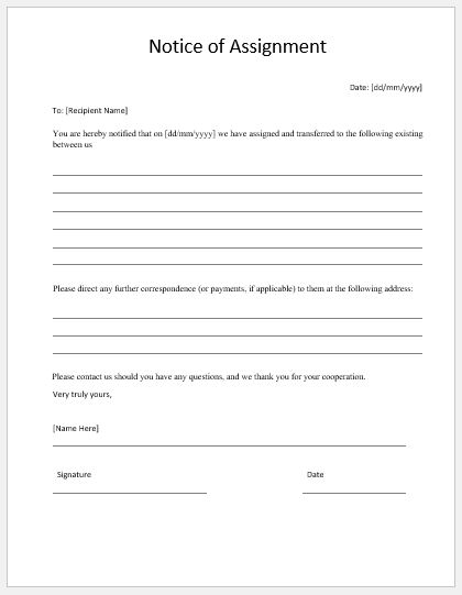 Word Project Assignment Task assignment sheet - Office Templates