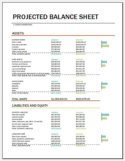 MS Excel Balance Sheet Templates Microsoft Word  Excel Templates