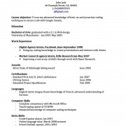 Chronological Resume Example The Balance Functional Resume For Canada Joblers