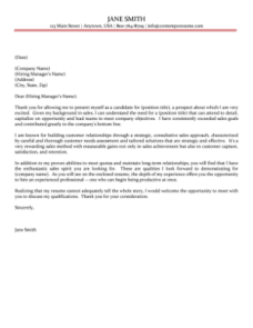 Seasoned professional cover letter