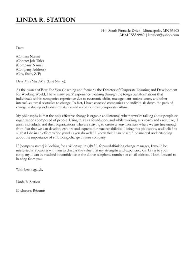 director of development cover letter