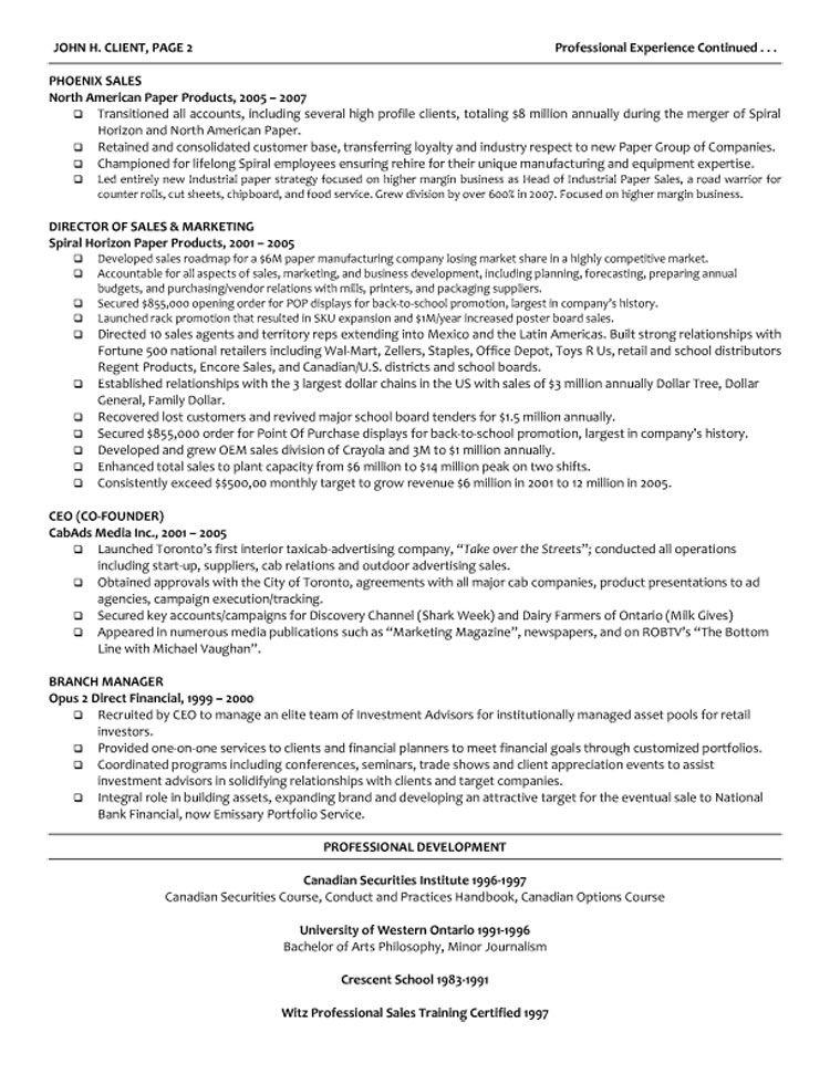 template cv managing director