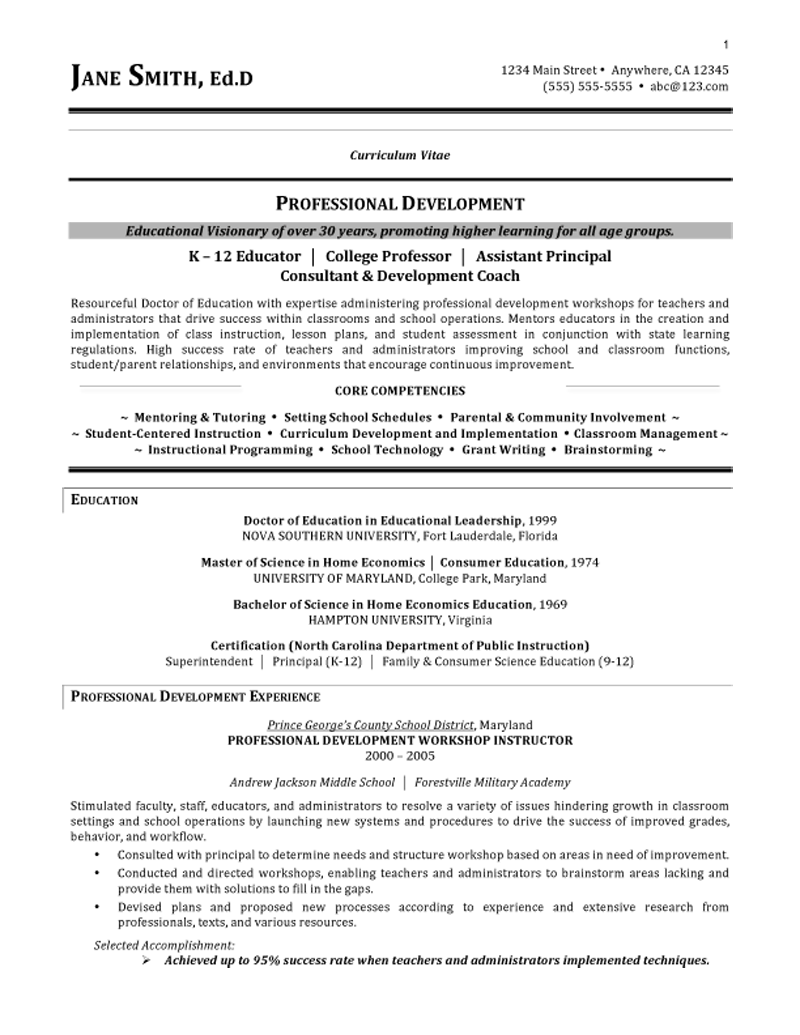 Sample Resume For Teachers Sample Resume For Teachers Post