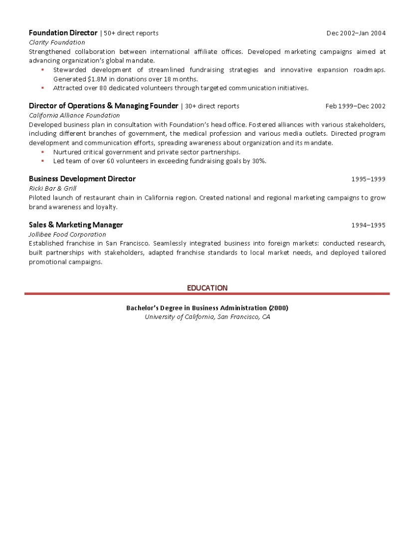 job description executive director economic development james r craven and associates current job listing of s - International Marketing Director Job Description