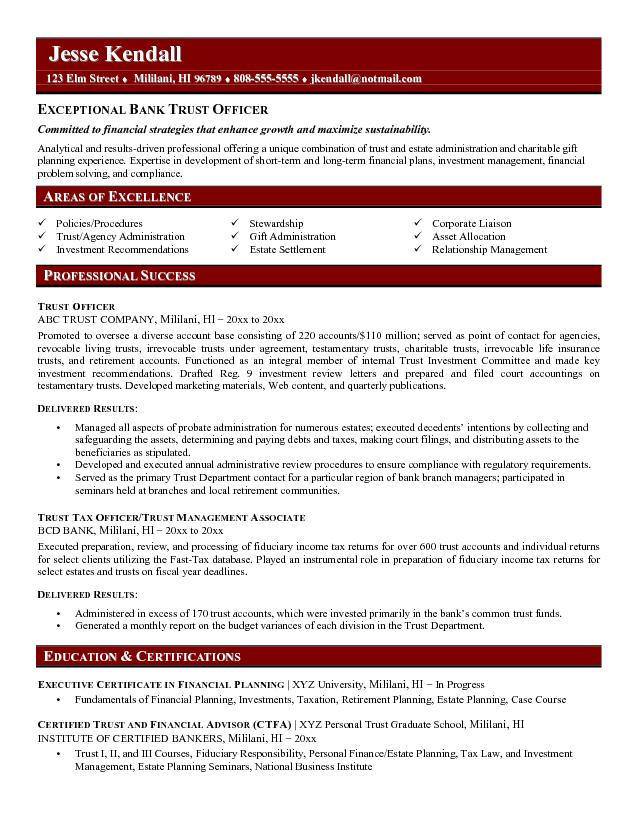 bank compliance resume examples