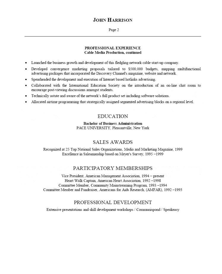 Advertising Director Resume - advertising resume