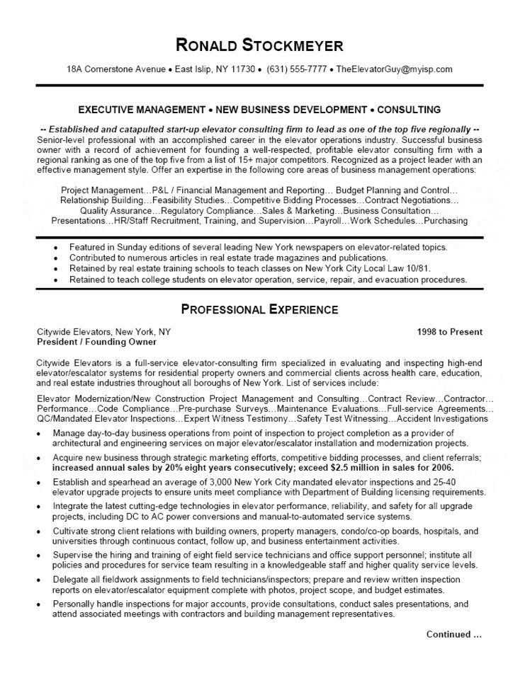 Business Operations Executive Resume - Business Resume