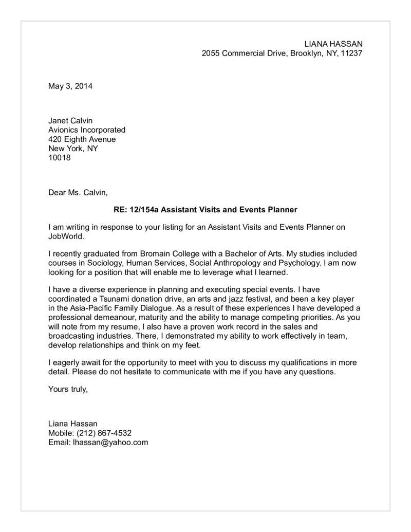 media coordinator cover letter