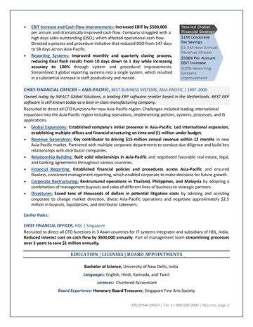 Corporate Finance Executive Resume - finance executive resume