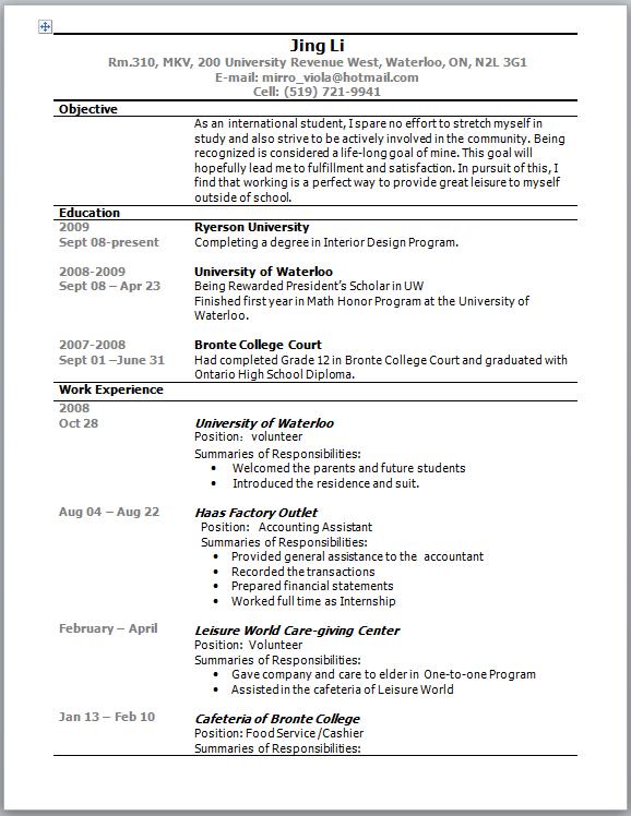 resume writing - workface