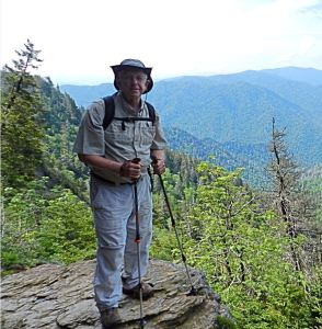 Bill on Alum Cave Trail en route to Mount LeConte in 2014