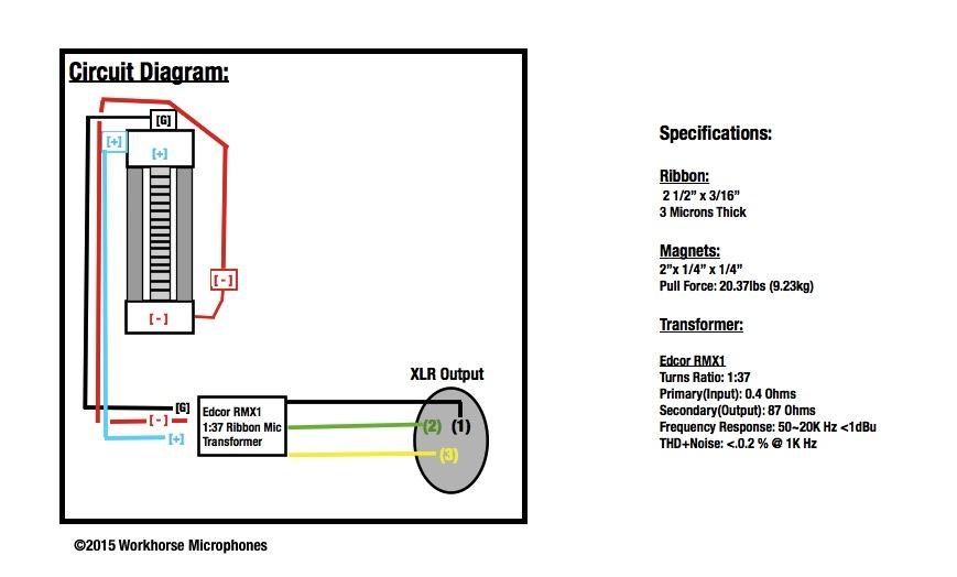 ribbon microphone wiring diagram