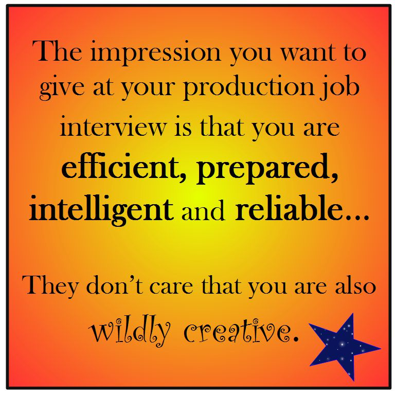 Job Interview Tips for Film or Theater \u2013 Robyn Coburn Résumé Review