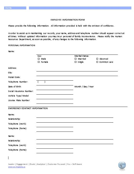 Employee Address Change Form Template - employee change form
