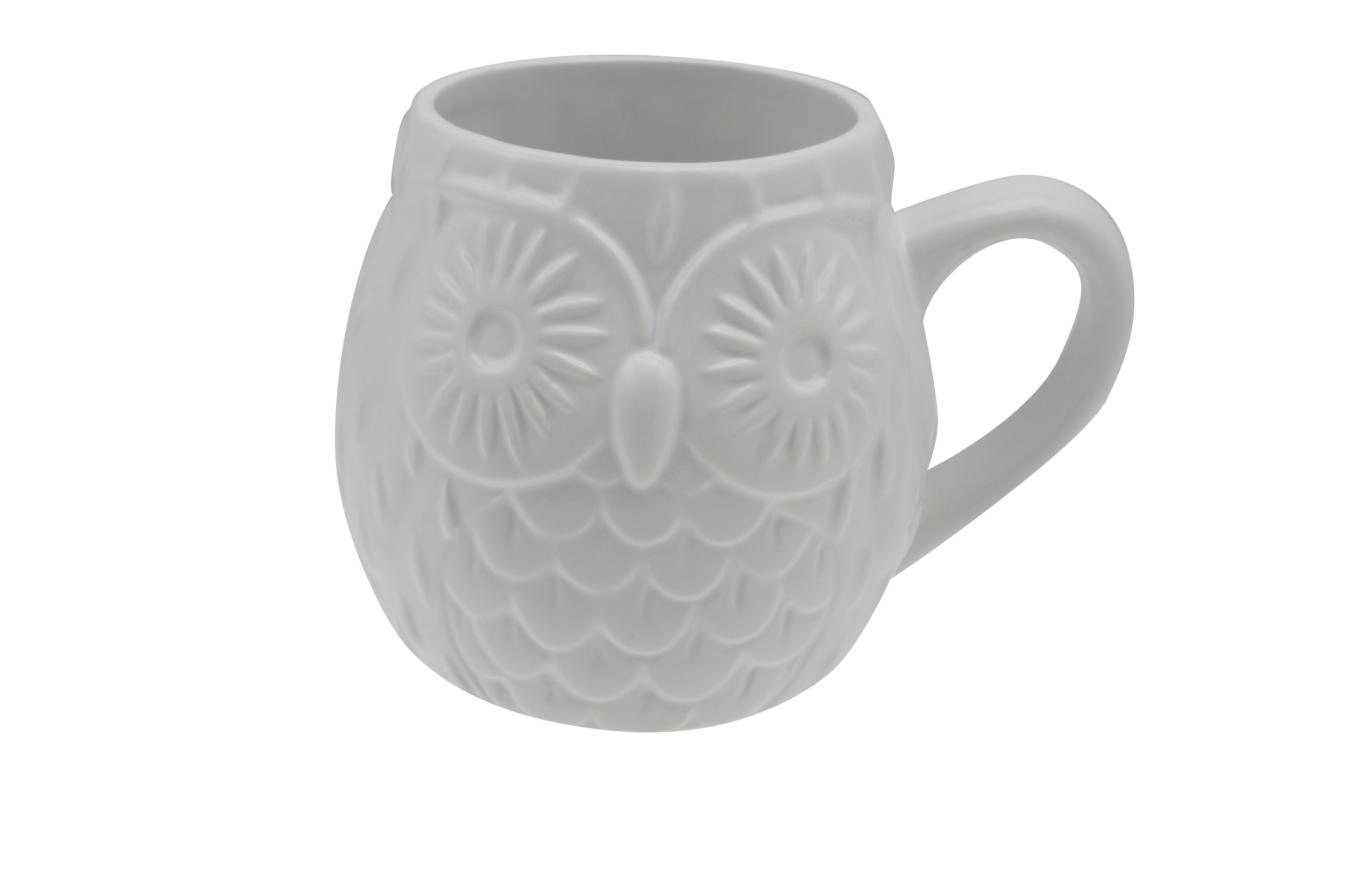 Owl Ceramic Mug 12x Coffee Mug Embossed Owl Dishwasher Safe Microwaveable
