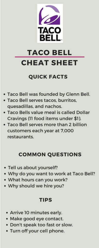 Taco Bell Interview A Quick and Simple Step-By-Step Guide - why do i want this job