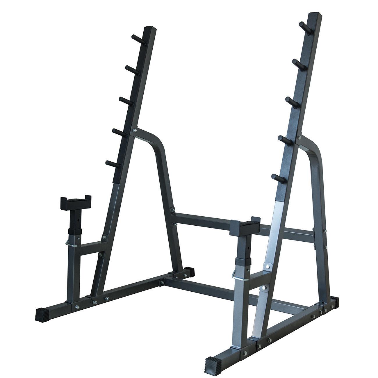 Deluxe Squat Bench Combo Rack Fitness Exercise Equipment