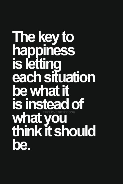 The Key To Happiness Is Letting Each Situation Be What It Is - job acceptance