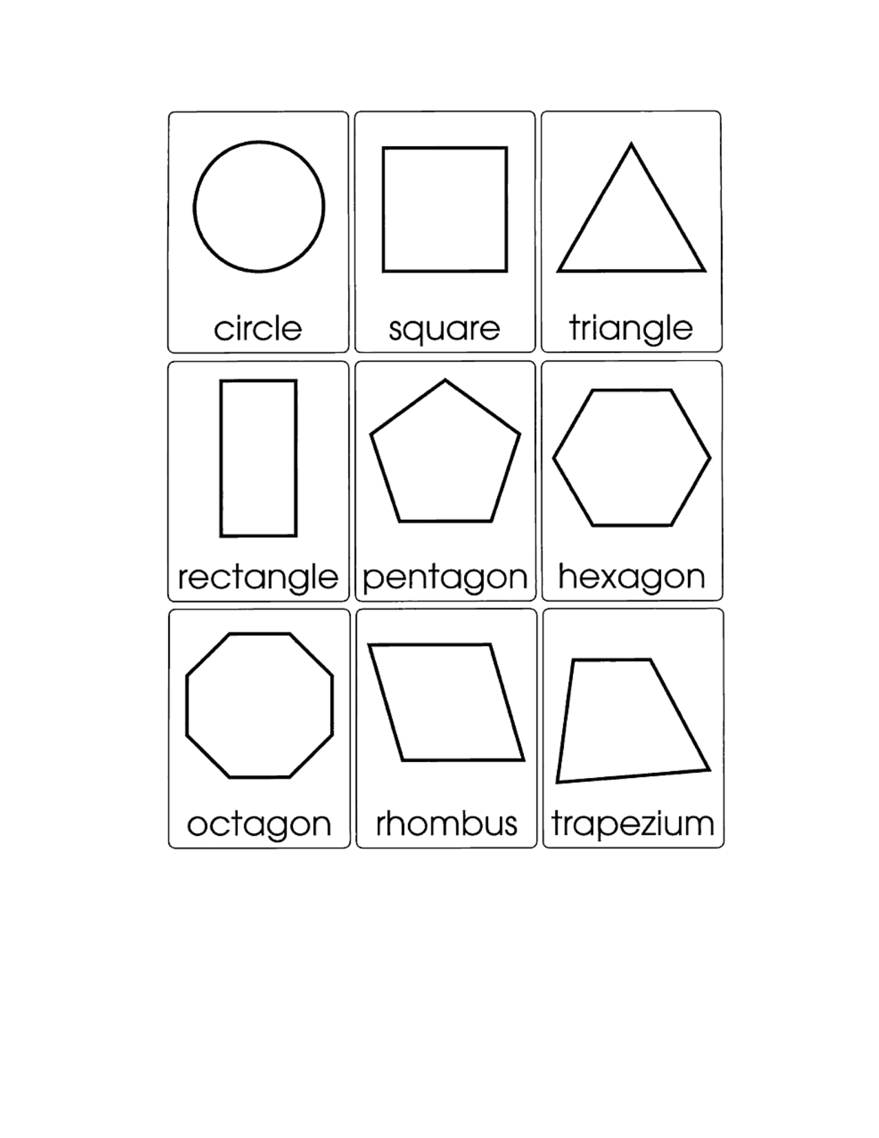 2d Geometric Shapes Chart 10 Best Images Of 2d Shapes Worksheets 2d Shape Names