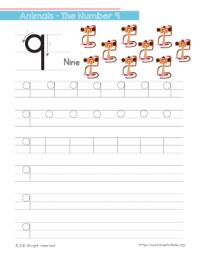Tracing Numbers Archives - Worksheets4Kids.org