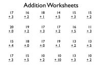 {Download PDF*} Free Printable addition worksheets grade 1 ...