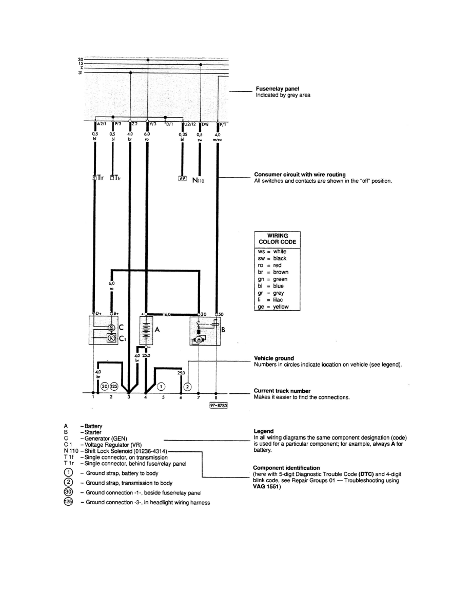 Audi 100 Wiring Diagram Download Auto Electrical