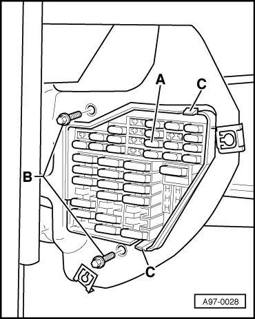 fuse panel skoda fabia
