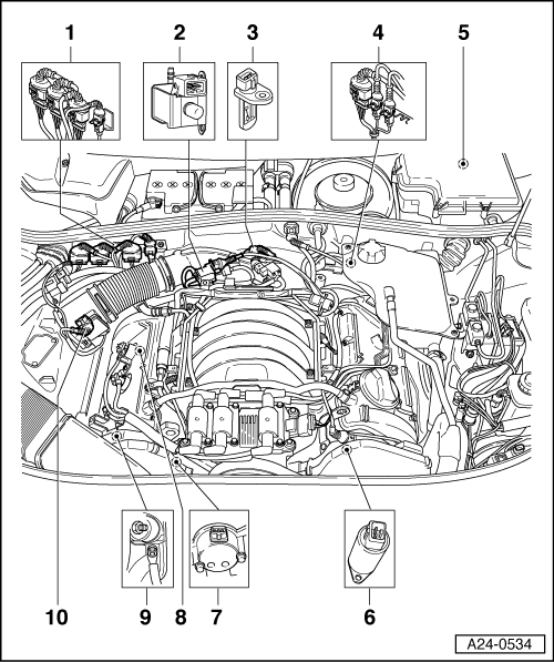 electronics box in the right air intake plenum chamber lhd vehicle