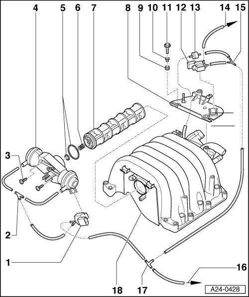 audi b6 Motor diagram