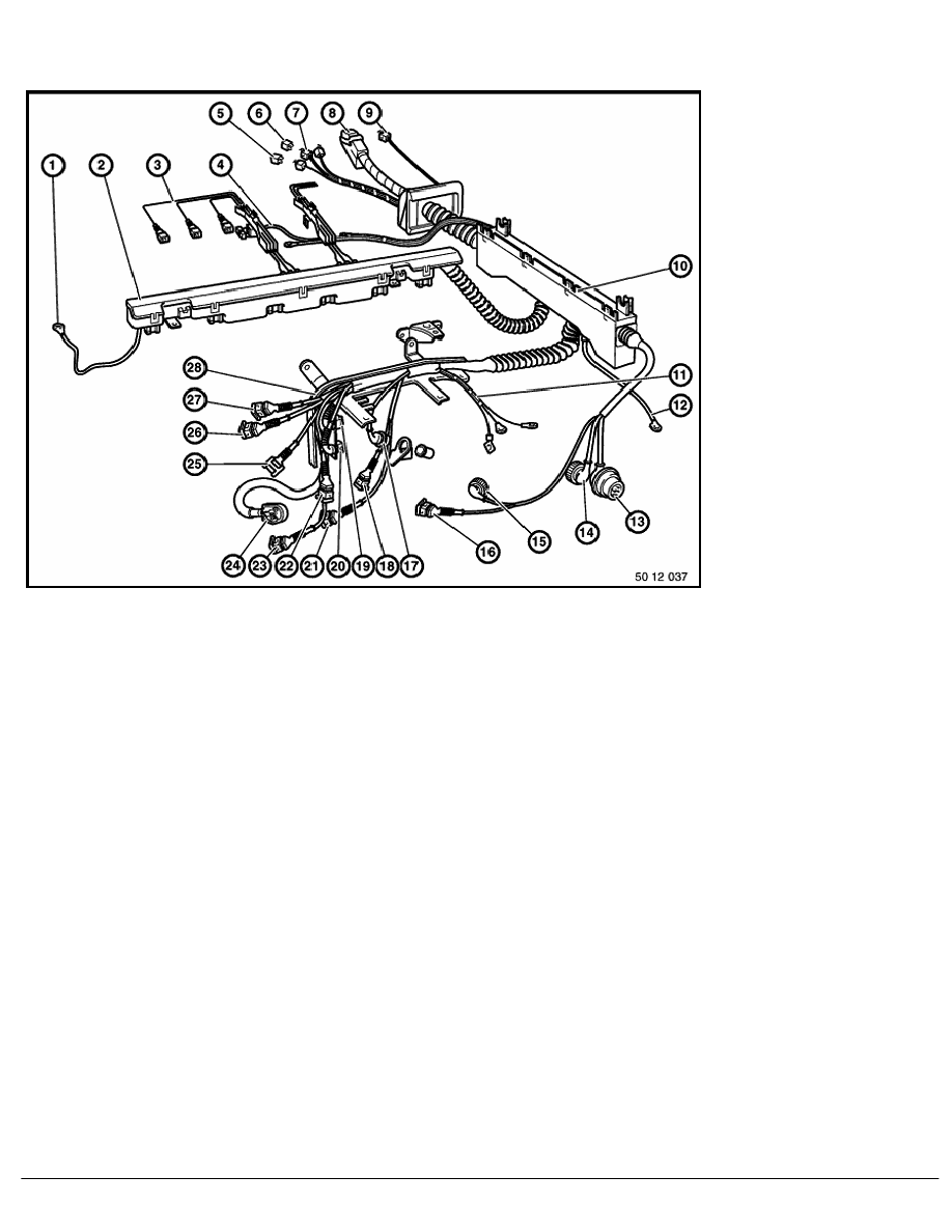bmw m50 engine harness connections diagram
