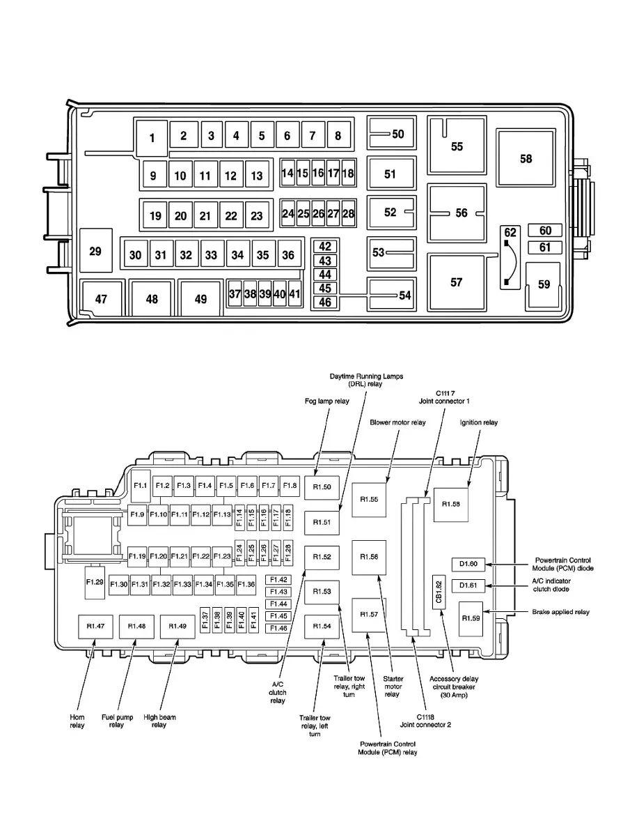 2003 lincoln aviator fuse box location