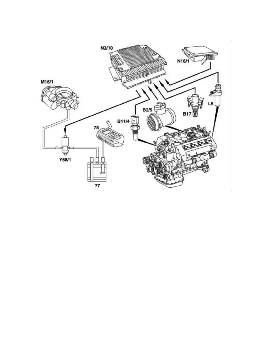 mercedes clk 320 engine diagram