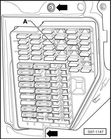 skoda fabia fuse box layout diagram