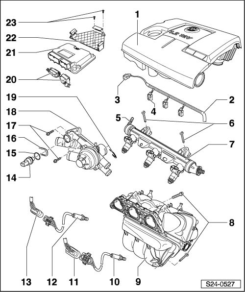 vw polo fuel filter location