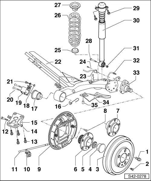 skoda brakes diagram