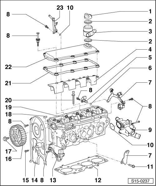 schema motor skoda octavia 2
