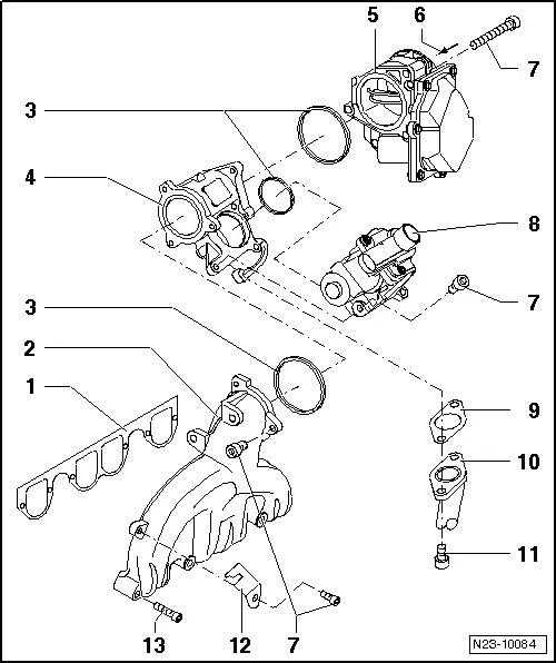 intake manifold egr valve location