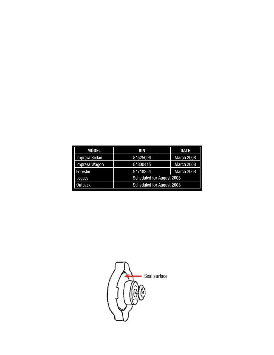 forester radiator cap