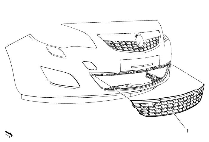 vauxhall astra front bumper