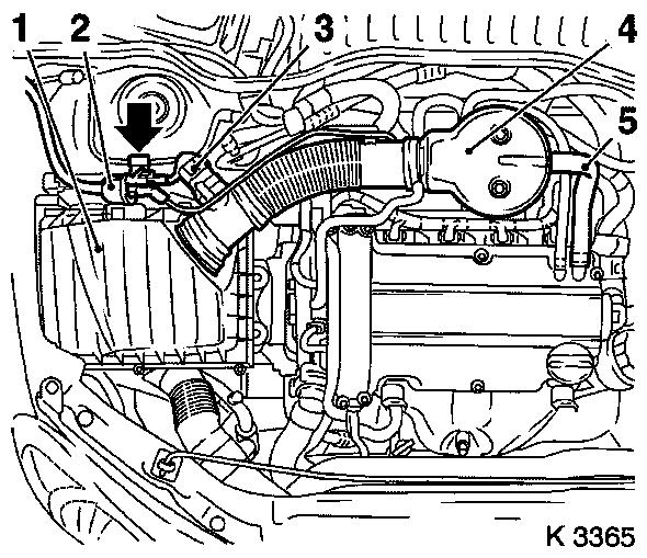 opel engine diagram