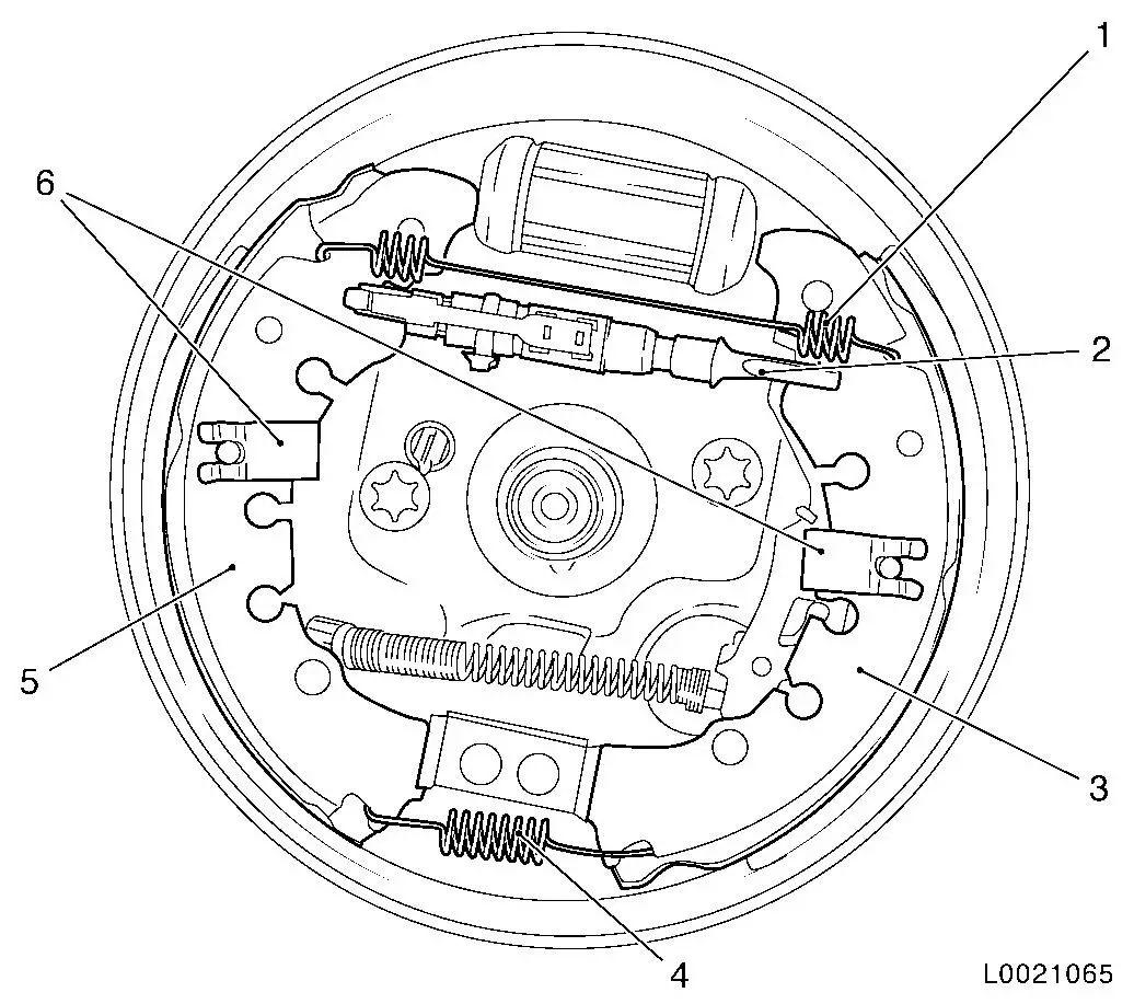 vauxhall brakes diagram