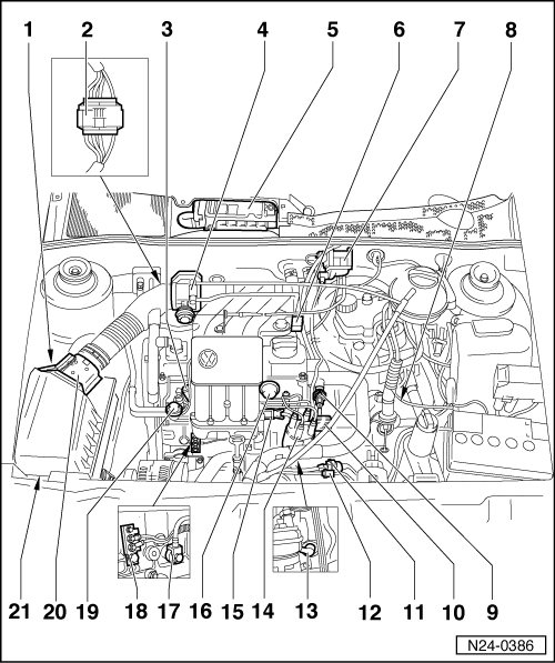 schema motor vw polo