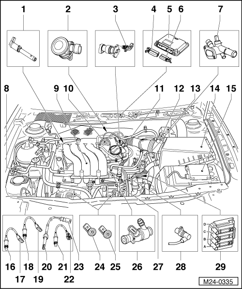 vw golf 2 0 Motor diagram
