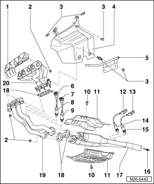 diagram of volkswagen golf engine
