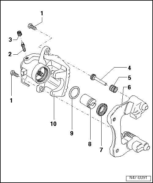 diagram of brake calipers